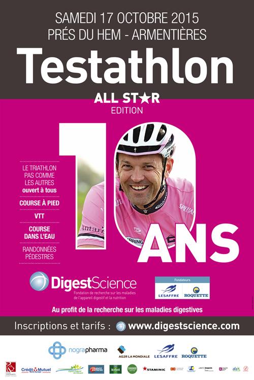 Les Prés du Hem – Armentières (59) : 10 ème rendez-vous DigestScience lance le Testathlon Edition All Star…