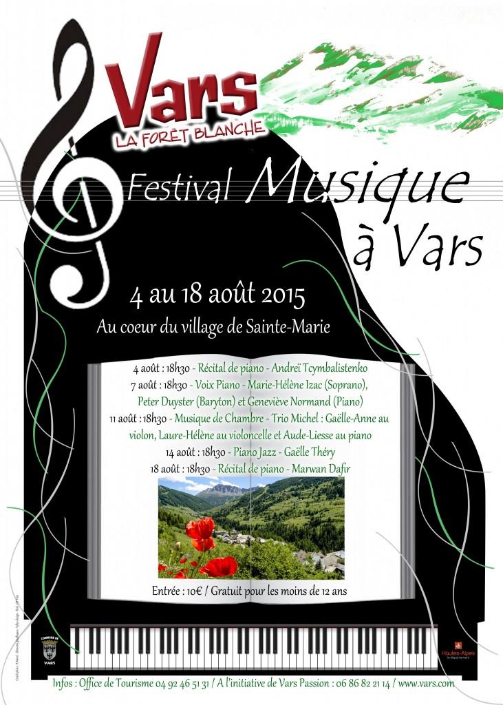 Vars (Hautes-Alpes) Festival de Musique Classique et Jazz été 2015…