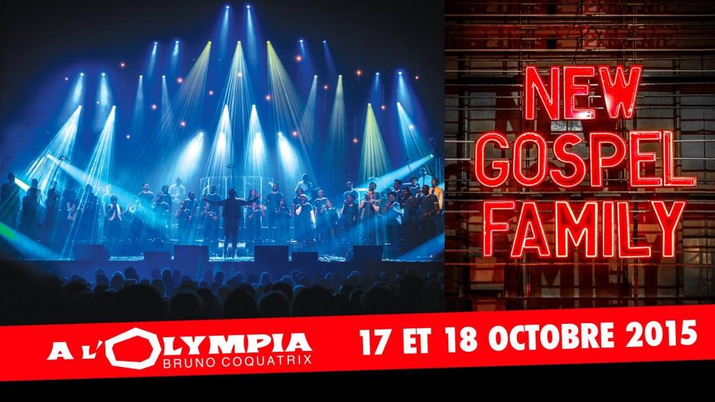 «New Gospel Family» en concert à l'Olympia les 17 et 18 octobre 2015…