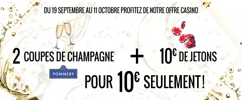 Les Casinos Barrière vous donnent rendez-vous pour participer au Grand Jeu Champagne* organisé en partenariat avec la Maison Pommery…