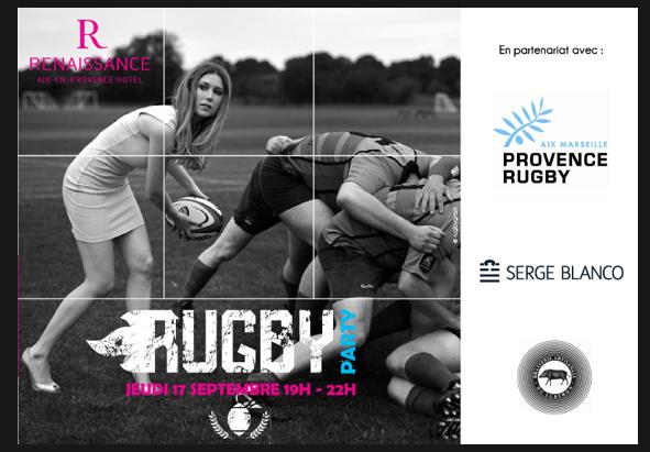Aix-en-Provence : «Rugby Party» au Renaissance…