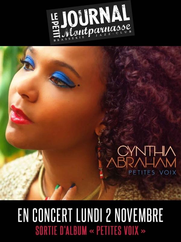 Paris Jazz : Le Petit Journal Montparnasse accueille Cynthia ABRAHAM…