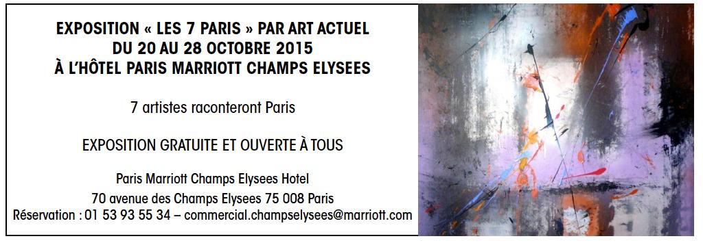 EXPOSITION «LES 7 PARIS» AU MARRIOTT CHAMPS ELYSÉES…