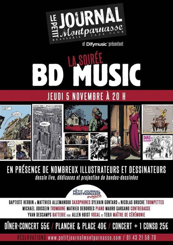 Paris Jazz : Soirée BD MUSIC en compagnie du Petit Journal Montparnasse Orchestra…