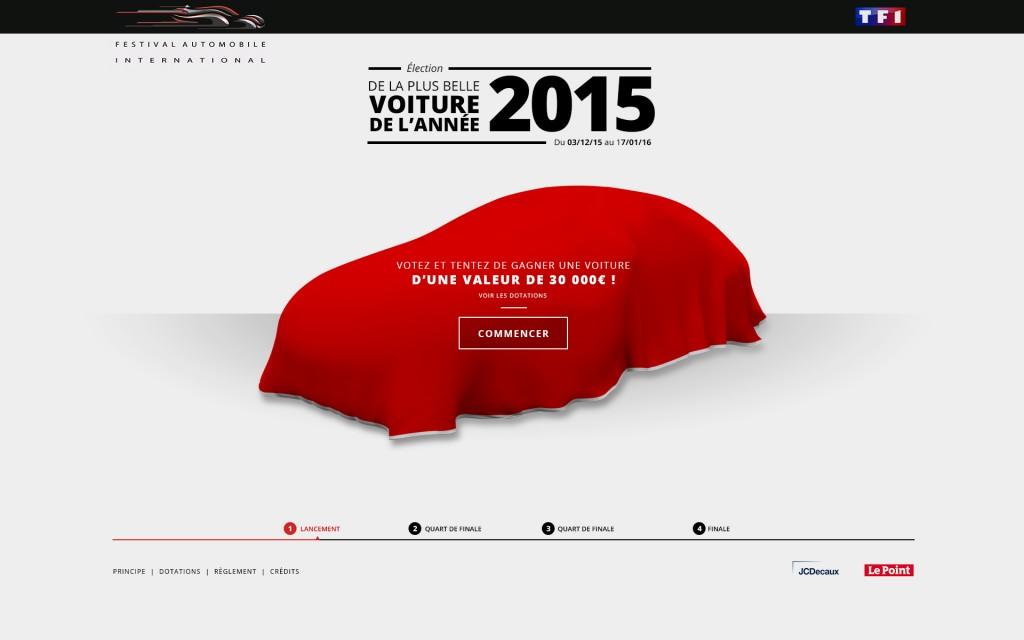 Election de «La Plus Belle Voiture de l'Année 2015 » …