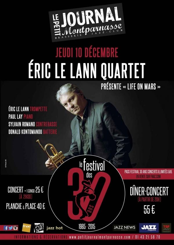Paris Jazz : Éric LE LANN Quartet se produit au Petit Journal Montparnasse dans le cadre du festival de ses 30 ans …