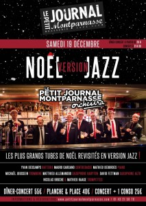 Paris Jazz : Le Petit Journal Montparnasse Orchestra fête « Noël version Jazz »…