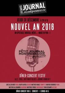 Paris Jazz : Soirée du Nouvel An 2016 en compagnie du Petit Journal Montparnasse Orchestra…