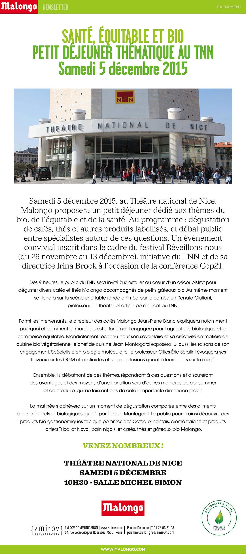 Nice : Cafés Malongo, Santé, Bio et Equitable…