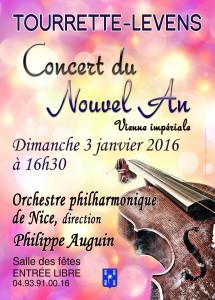 Tourrette-Levens : Concert du Nouvel An dimanche 3 janvier 2016…