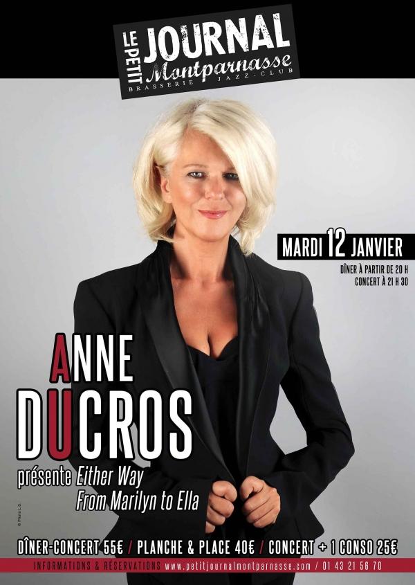 Paris Jazz : Anne DUCROS se produit au Petit Journal Montparnasse…