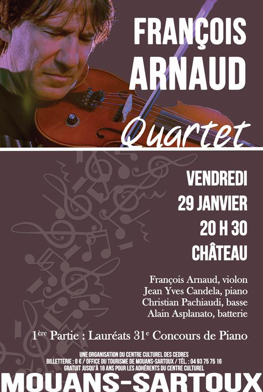 Mouans-Sartoux : François Arnaud Quartet se produit au Château…
