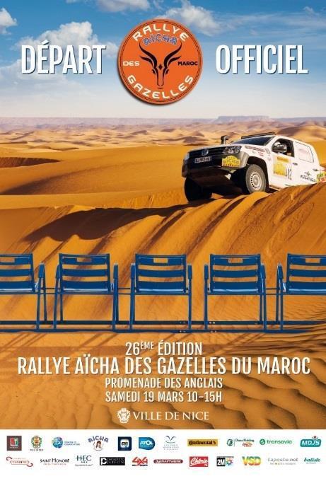 Nice / Maroc : «Rallye des Gazelles 2016 »  …