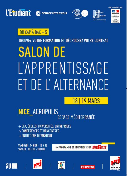 Nice salon de l apprentissage et de l alternance 2016 for Salon de l apprentissage