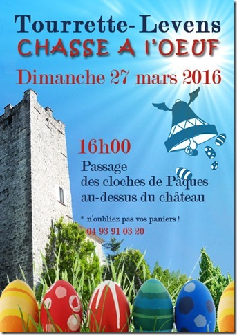 Tourrette-Levens : «Chasse à l'Oeuf 2016 »  …