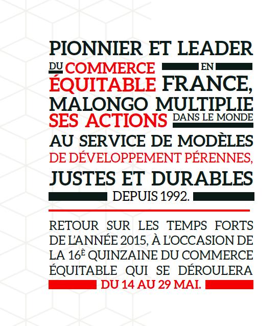 Quinzaine du Commerce Equitable : Les Cafés Malongo pionnier et leader…