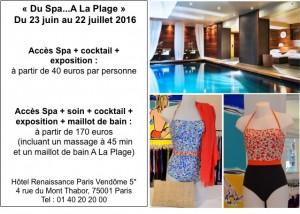 La marque de maillots de bain « A La Plage » s'exposera à l'hôtel Renaissance Paris Vendôme du 23 juin au 22 juillet 2016…