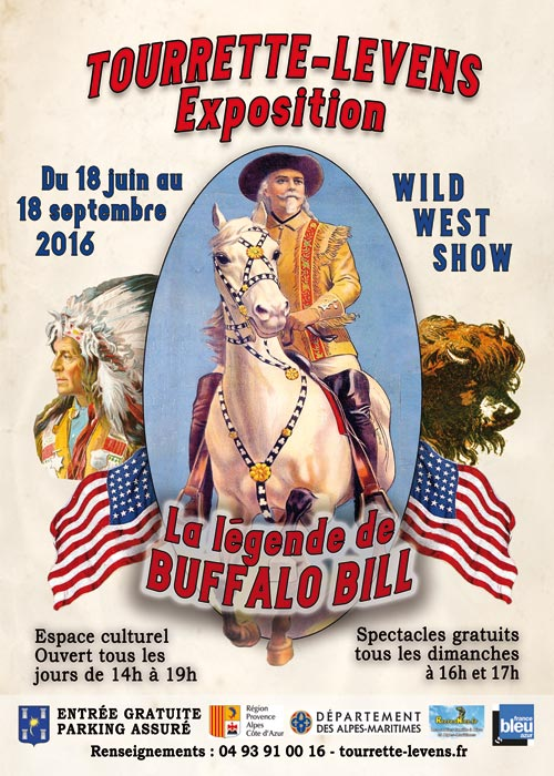 TOURRETTE-LEVENS : EXPOSITION BUFFALO BILL…