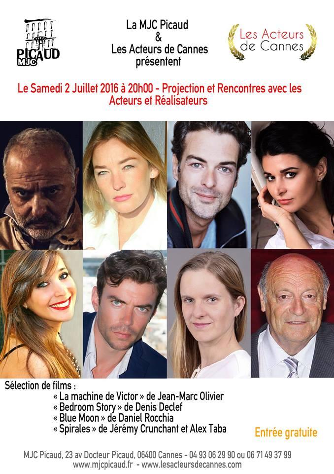 Les Acteurs de Cannes organisent une soirée projection de courts-métrages …