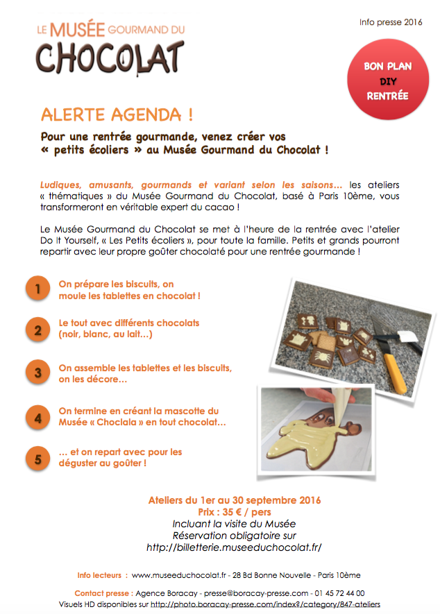 «Le Musée Gourmand du Chocolat » …