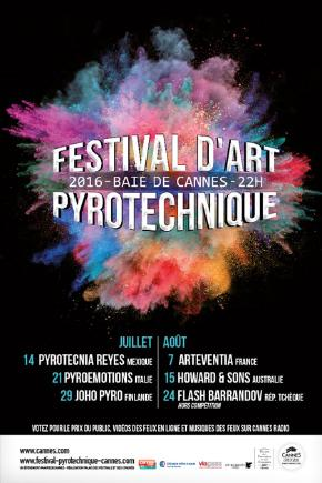 CANNES – FESTIVAL D'ART PYROTECHNIQUE  REPORT DU FEU D'ARTIFICE AU JEUDI 18 AOÛT 2016…
