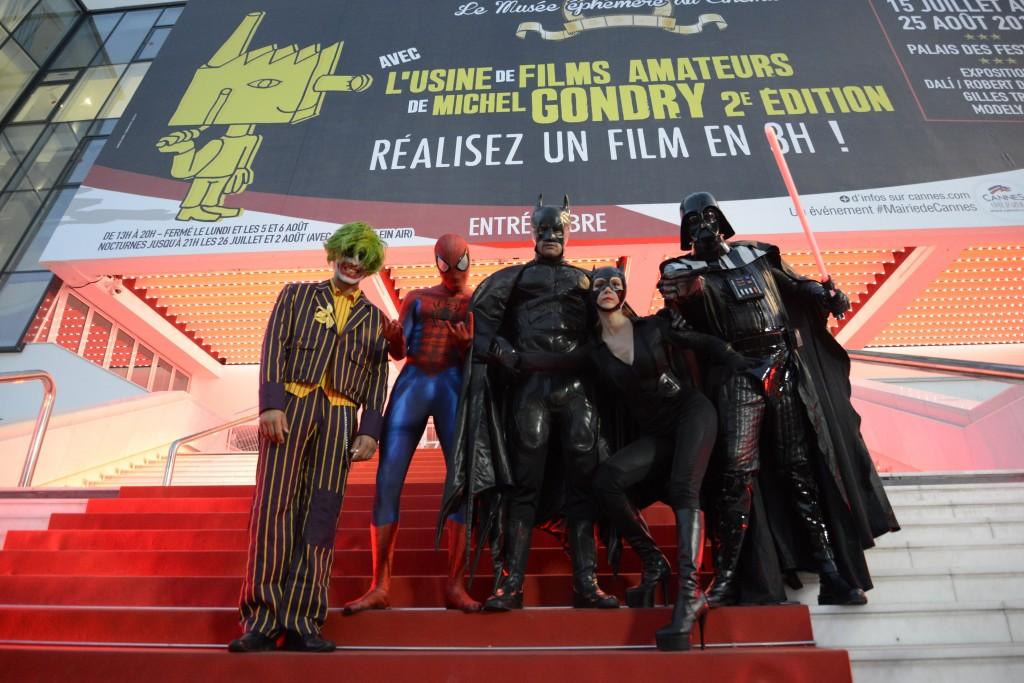 Cannes, Prenez la pose avec les super-héros…