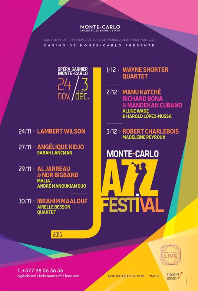 MONTE CARLO JAZZ FESTIVAL 2016…
