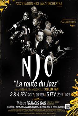 Le Nice Jazz Orchestra présente LA ROUTE DU JAZZ avec le quintet de violoncelles CELLO FAN…