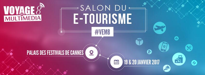 Cannes : Salon du e-tourisme «Voyage en Multimédia» 2017 au Palais des Festivals et des Congrès…