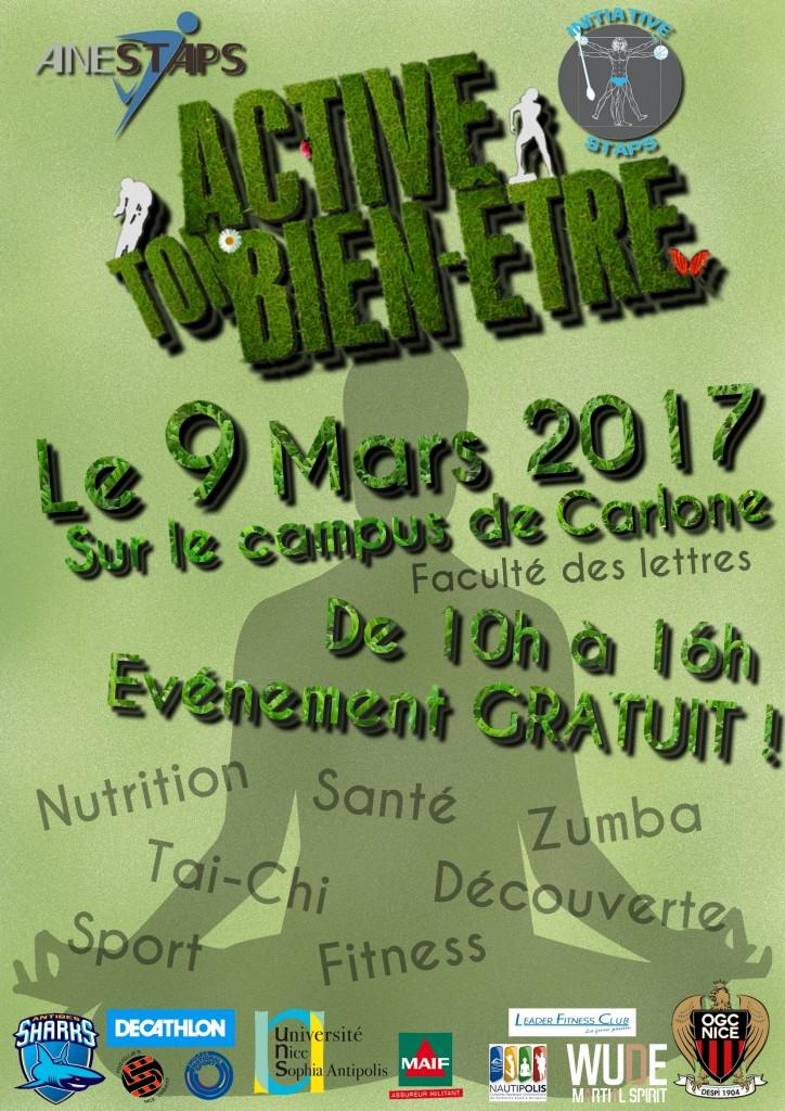 «ACTIVE TON BIEN ETRE » sur le site de la Faculté de Lettres à Nice …