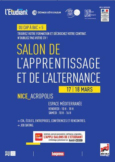 3ème édition du Salon de l'Apprentissage et de l'Alternance de Nice…