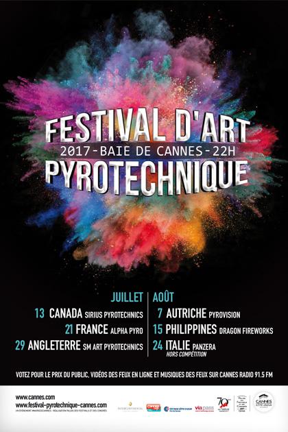 CANNES : LE FESTIVAL D'ART PYROTECHNIQUE CÉLÈBRE SON 50e ANNIVERSAIRE DU 13 JUILLET AU 24 AOÛT 2017…