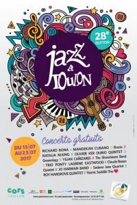 TOULON À L'HEURE DU JAZZ DU 15 AU 23 JUILLET 2017…