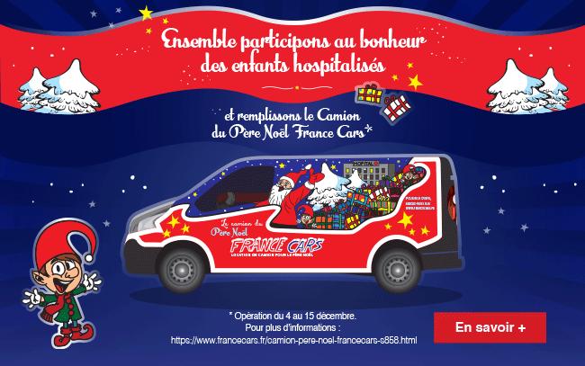 Le Camion du Père Noël France Cars participe au bonheur des enfants hospitalisés…