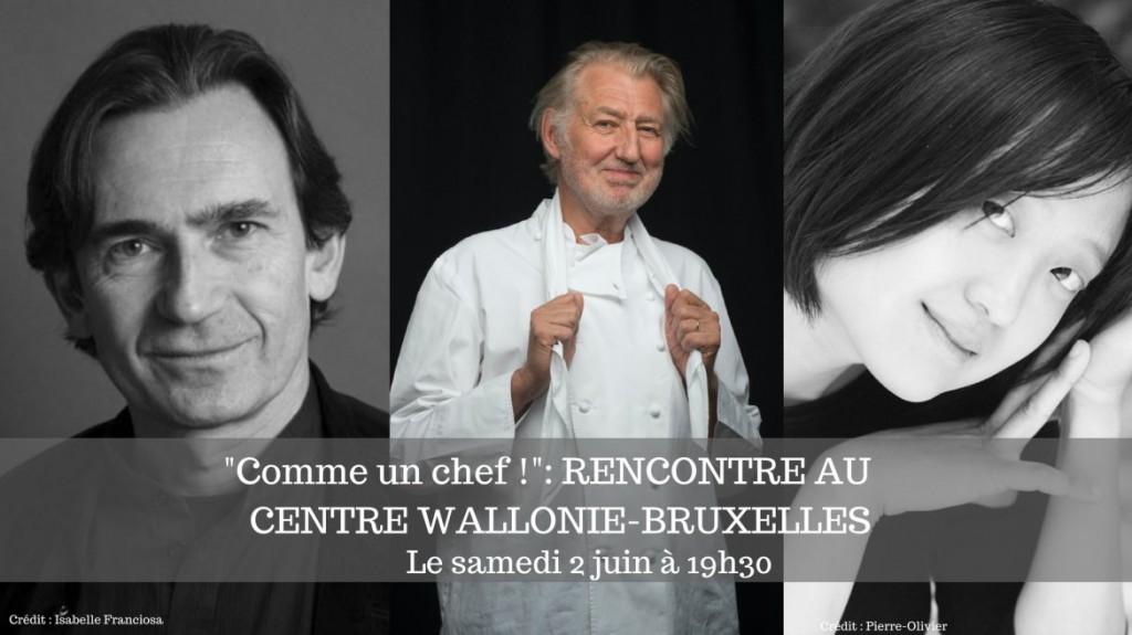 CENTRE WALLONIE-BRUXELLES : RENCONTRE AUTOUR DU ROMAN GRAPHIQUE « COMME UN CHEF ! »…