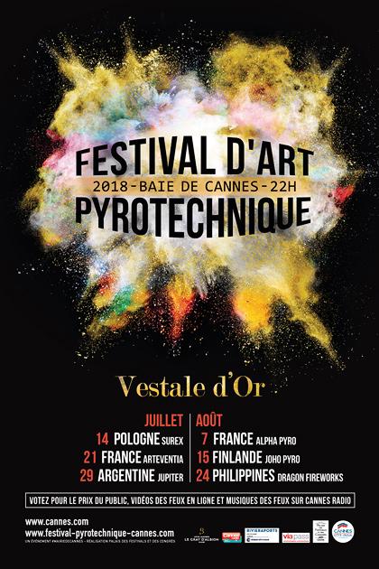 CANNES PALMARES 2018 FESTIVAL D'ART PYROTECHNIQUE…