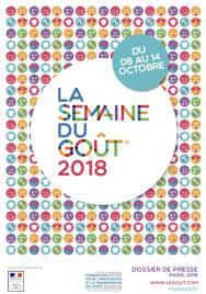 «Semaine du goût 2018 en France » …