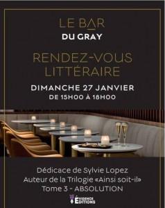 Sylvie LOPEZ : Evénement littéraire à l'Hôtel Barrière Le Gray d'Albion Cannes …