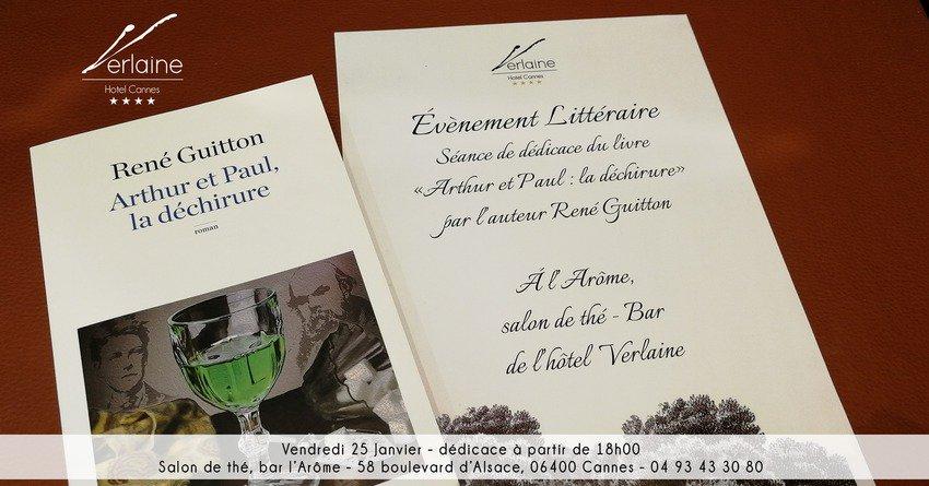 René GUITTON : Rendez-vous littéraires à l'Hôtel Verlaine de Cannes…