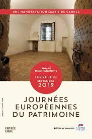 Cannes : Journées Européennes du Patrimoine 2019…