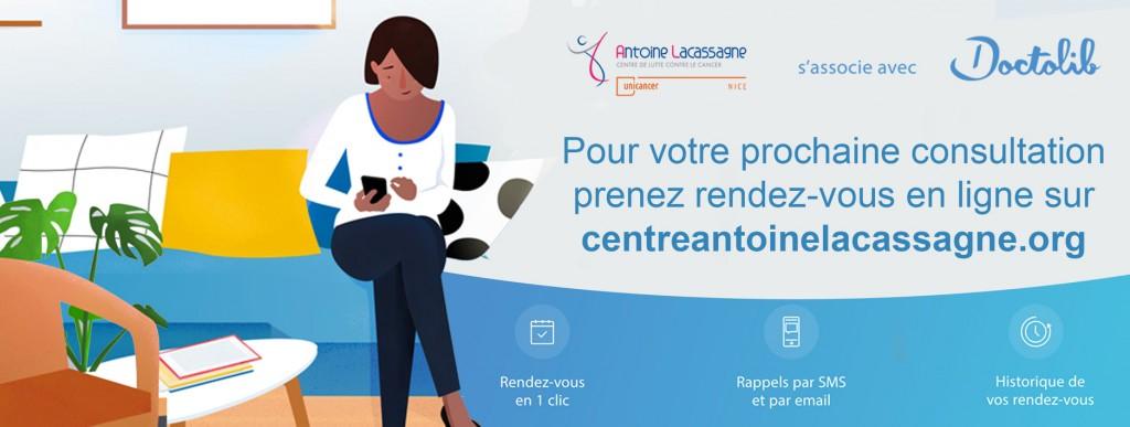 Antoine Lacassagne propose à ses patients la prise de rendez-vous en ligne…